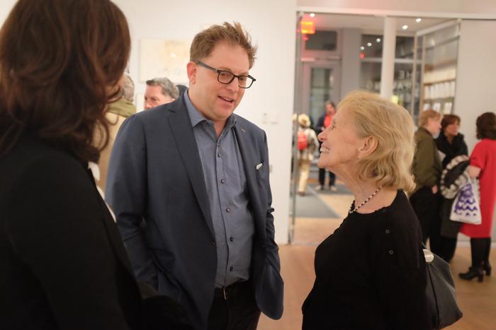 The Drawing Center's Brett Littman and artist Dorothea Rockburne.