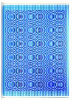 Piove con il sereno, 1999, PVC, acrylic and paper on panel, 142 x 100 cm. - 55.9 x 39.3 in.