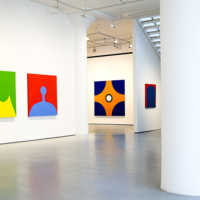Installation view of Marcia Hafif at Fergus McCaffrey
