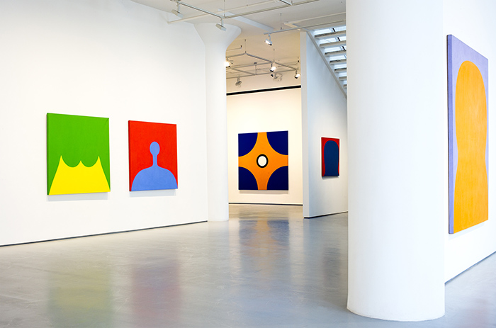 Installation view of Marcia Hafif at Fergus McCaffrey