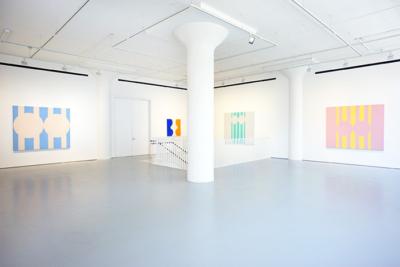 Marcia Hafif Second Floor Installation View at Fergus McCaffrey