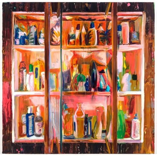 "Rachel Schmidhofer, Chapstick, 40""x40"", oil on panel, 2014"