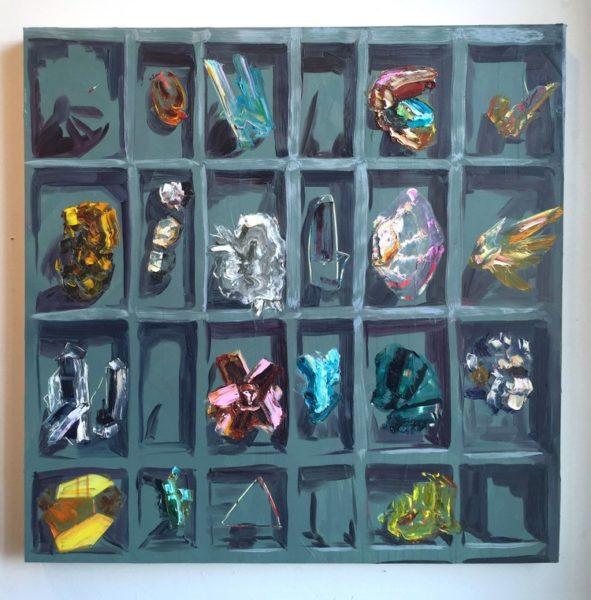 "Rachel Schmidhofer, Rox, 36""x36"", oil on panel, 2015"