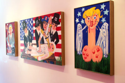 "Installation shot of Rebecca Goyette's ""Ghost Bitch U.S.A."" at Freight and Volume."