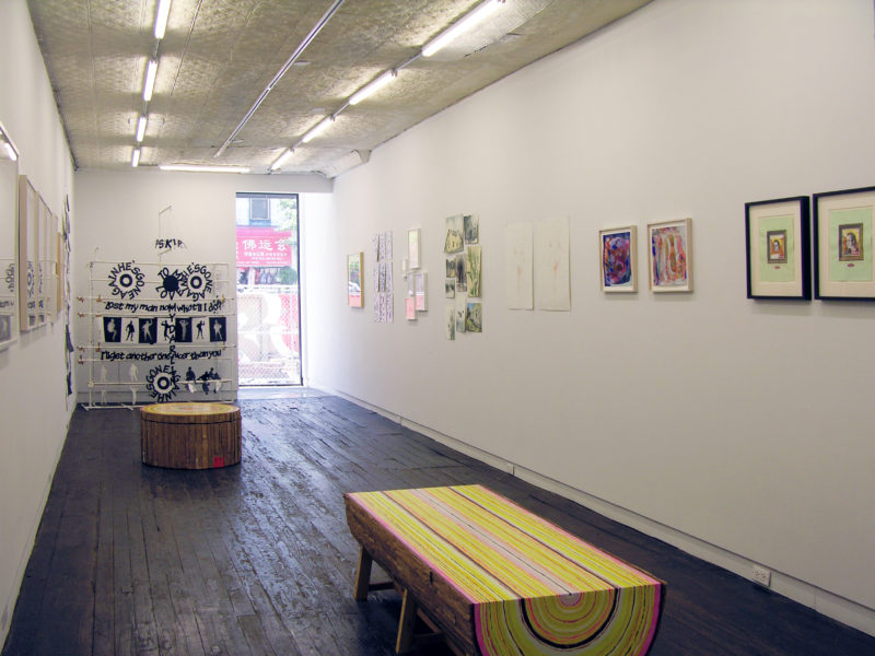 "Installation shot of ""Papered Stories"" on the ground floor of LMAK gallery."