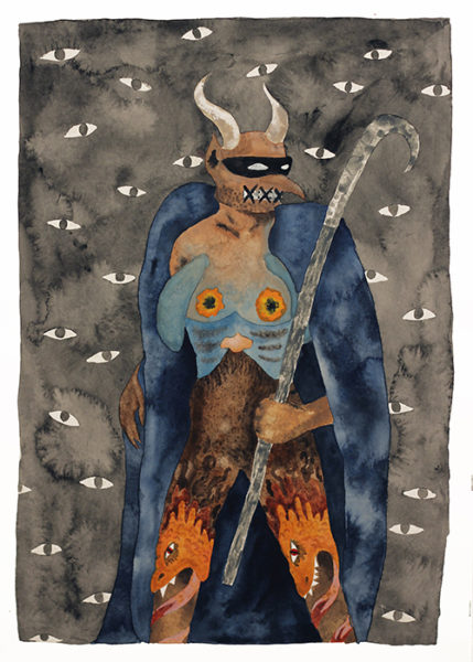 05_KERI_OLDHAM_All Eyes on You_20 x 16 inches_watercolor on paper