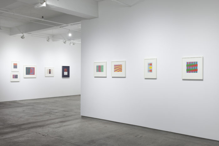 Installation view of Michael Kidner show photo by Peter Butler