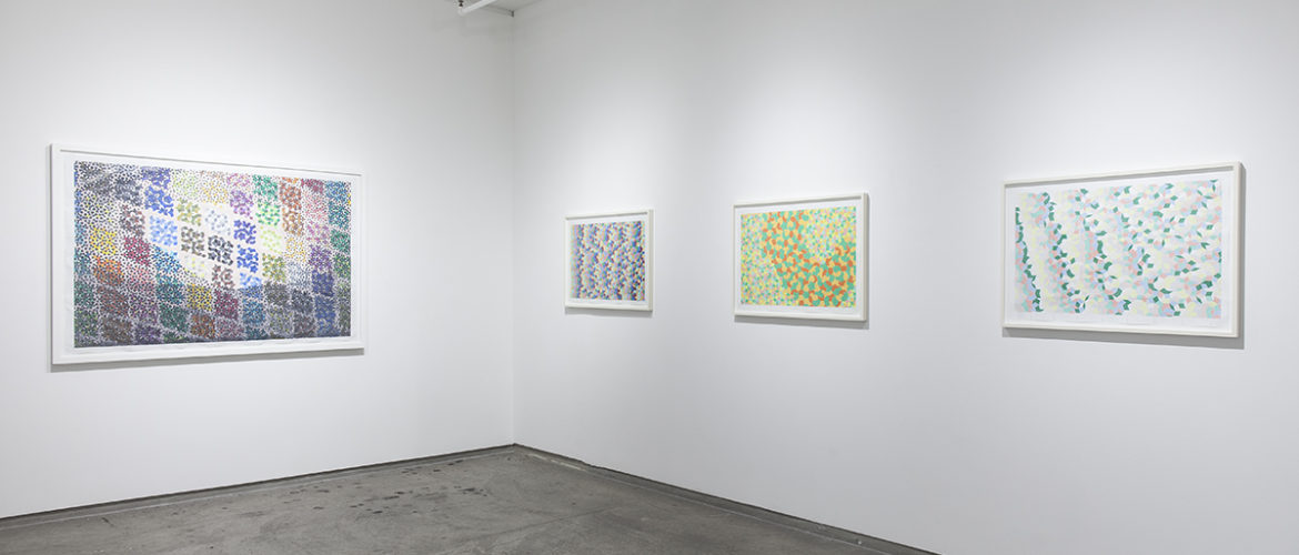 The work of Michael Kidner at Flowers Gallery photo by Peter Butler