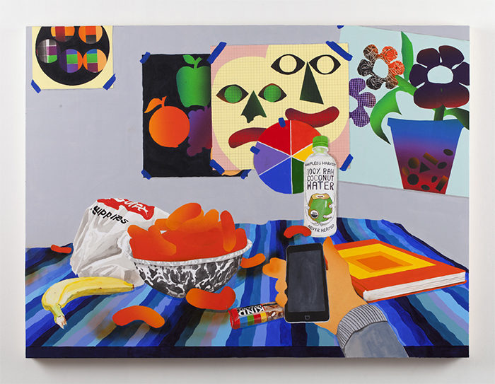 Hipster Wellness, 2015, oil and acrylic on panel