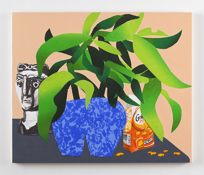 Snack Plant, 2015, acrylic and oil on panel