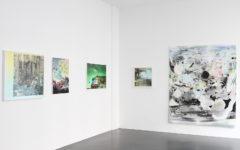 Exhibition LAYERED LANDSCAPES, curated by Tina Sauerlaender, artworks (LTR) by: Mark Dorf, Michelle Jezierski, Han Bing, Michelle Jezierski, Daecheon Lee / Courtesy Philine Cremer Gallery, Düsseldorf, Germany, 2016