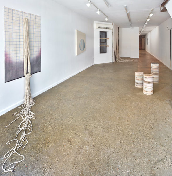 "Installation view of ""Remote Sensing"" by Karen Lee Williams curated by Melinda Wang at Equity Gallery, New York, 2016."