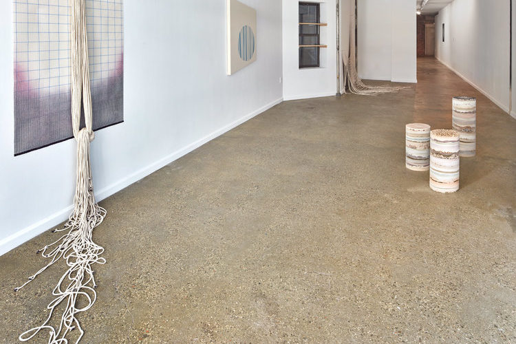 """Installation view of """"Remote Sensing"""" by Karen Lee Williams curated by Melinda Wang at Equity Gallery, New York, 2016."""