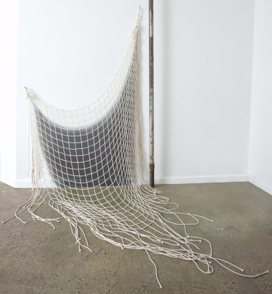 Untitled, 2016 Cotton rope and graphite 71 x 46 x 52 inches