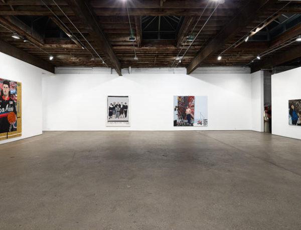 Portraits by Jonas Wood, installation view at Anton Kern Gallery, New York, 2016