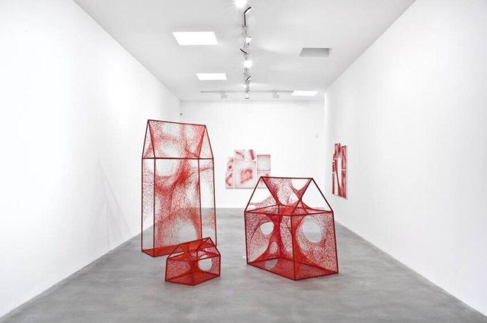 Chiharu Shiota, Uncertain Journey, 2016, Installation view, Courtesy the artist and Blain|Southern, Photo: Christian Glaeser