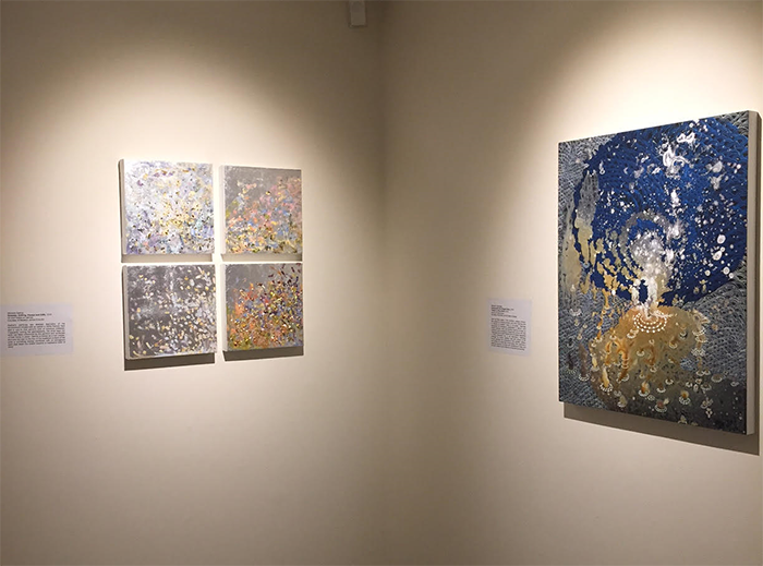 """Installation view for """"Bedazzled"""" at Lehman College Art Gallery, New York, 2016"""