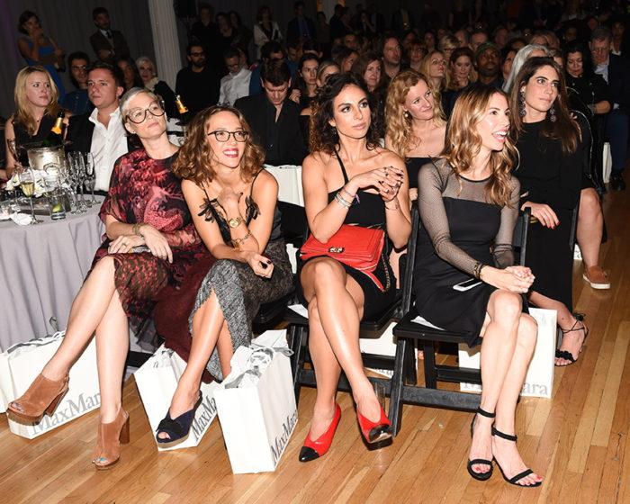 Helen Toomer, Zoe Buckman, (wearing MAX MARA), Shari Loeffler, Michelle Hellman Cohen