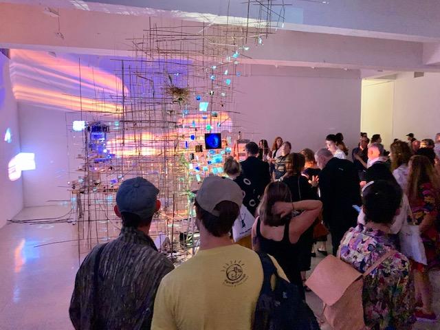 Opening for Sarah Sze at Tanya Bonakdar Gallery